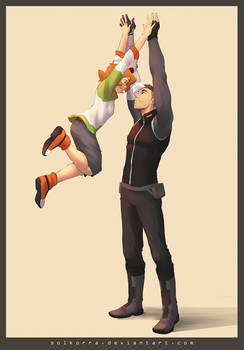 Pidge and Shiro High Five!