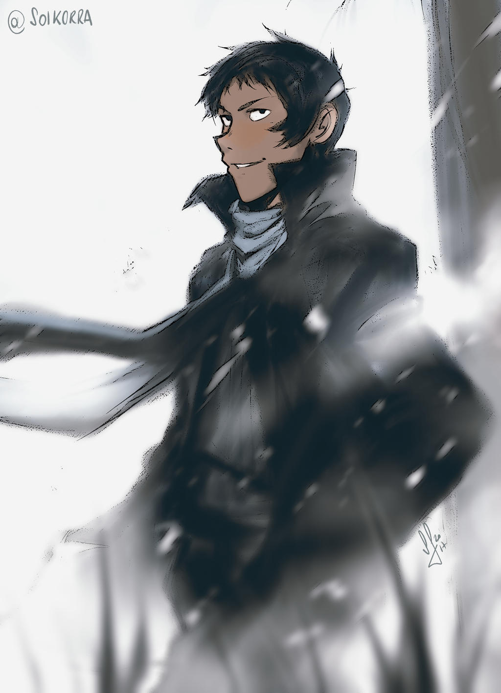 Lance in snow
