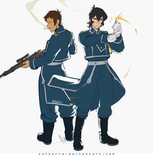 Keith Mustang and Lance Hawkeye