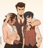 Shiro, Keith and Allura Vanetti by SolKorra