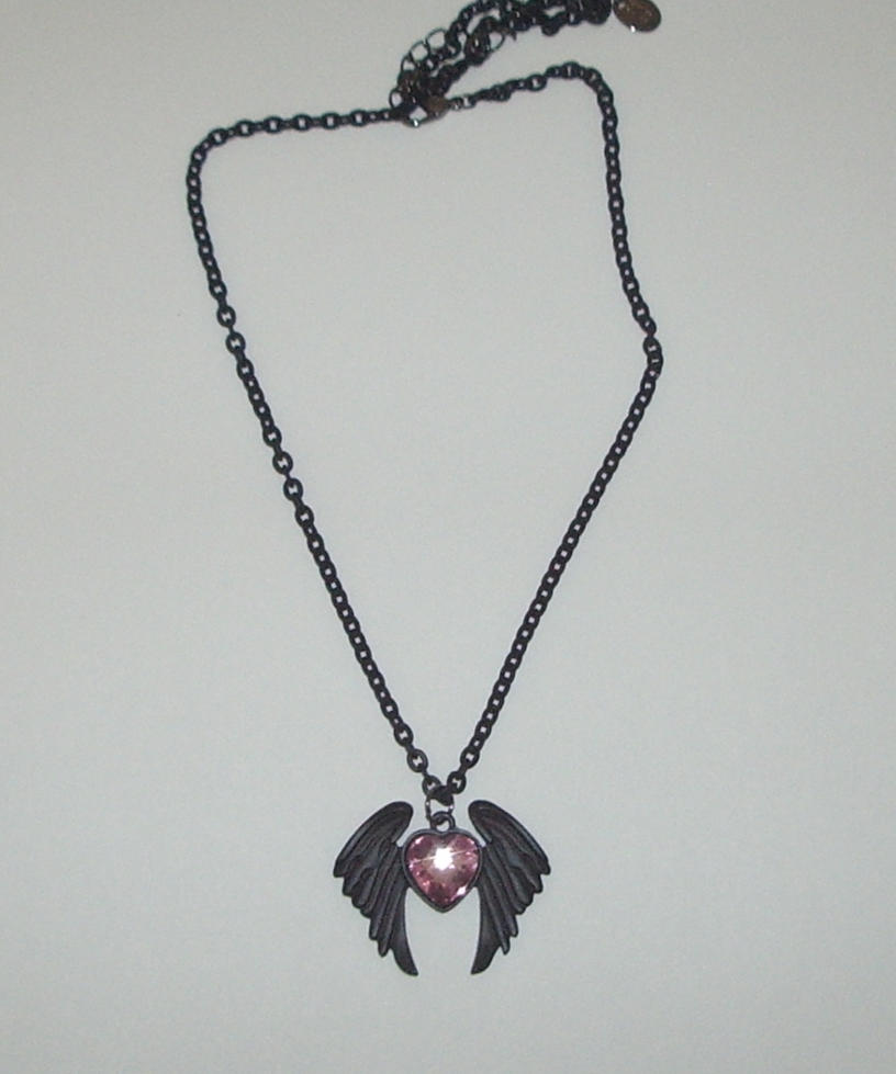 black angel wings necklace by Gothicmamas-stock