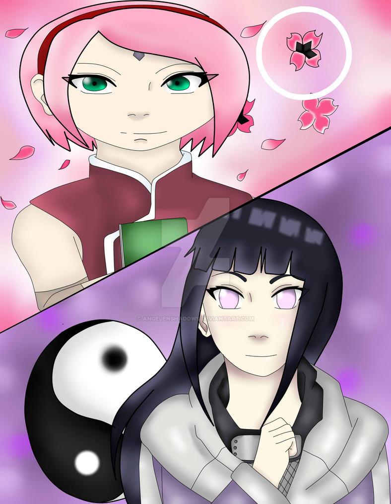 Sakura Haruno And Hinata Hyuga by AngelenShadows