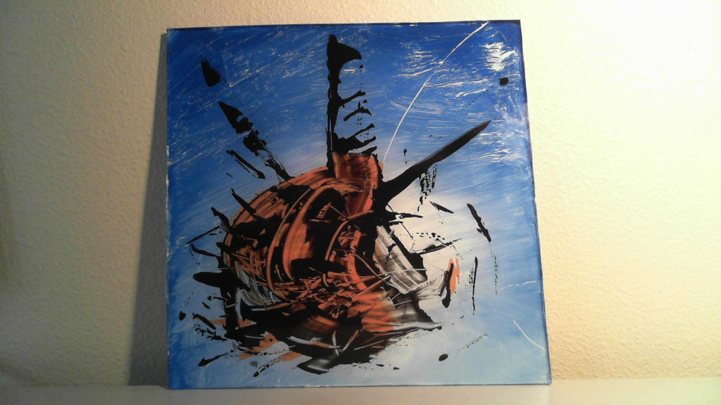 Acrylic on glass by justinhammett on deviantart for Painting on glass windows with acrylics