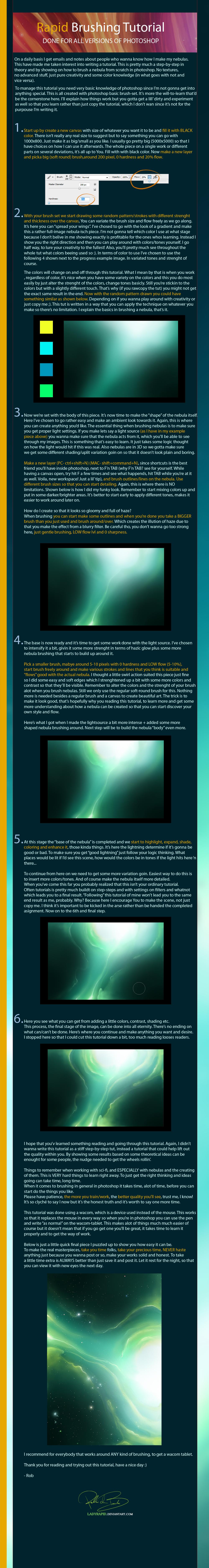 Nebula Brushing Tutorial by ladyrapid