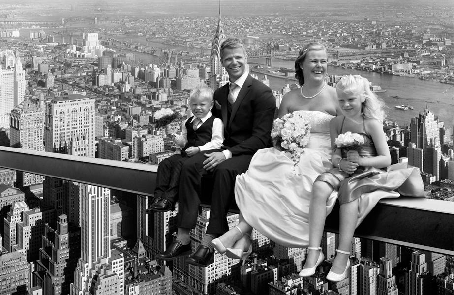 Wedding atop a skyscraper