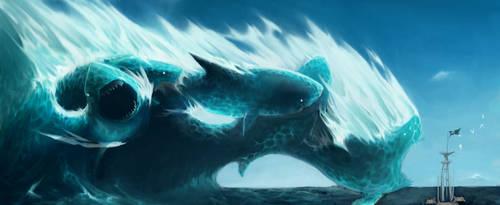 Water Elemental by Liquid-Penguin