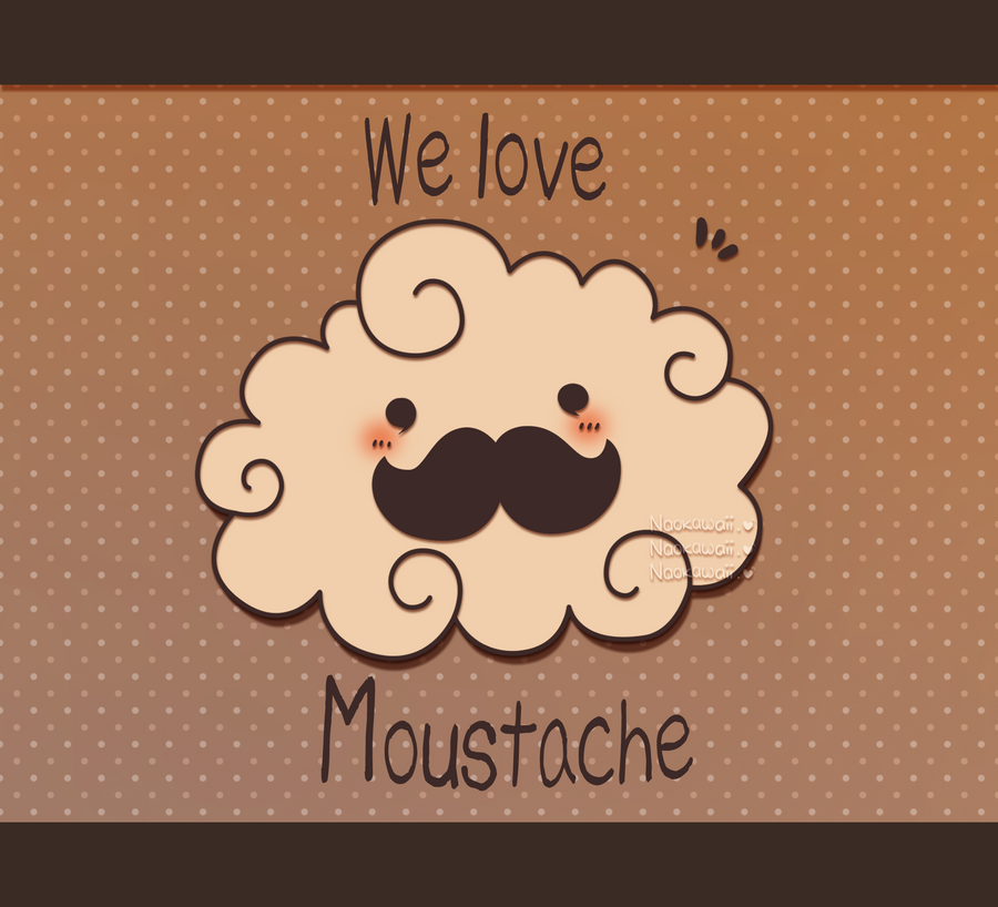We love moustache cloud by Naokawaii