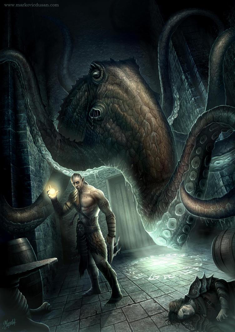 Druid battle by DusanMarkovic