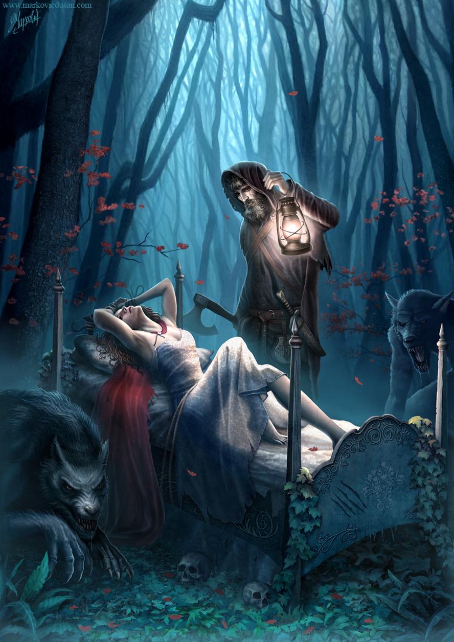Galeria de Arte: Ficção & Fantasia 1 - Página 5 One_more_little_red_riding_hood_by_dusanmarkovic-d4m0350