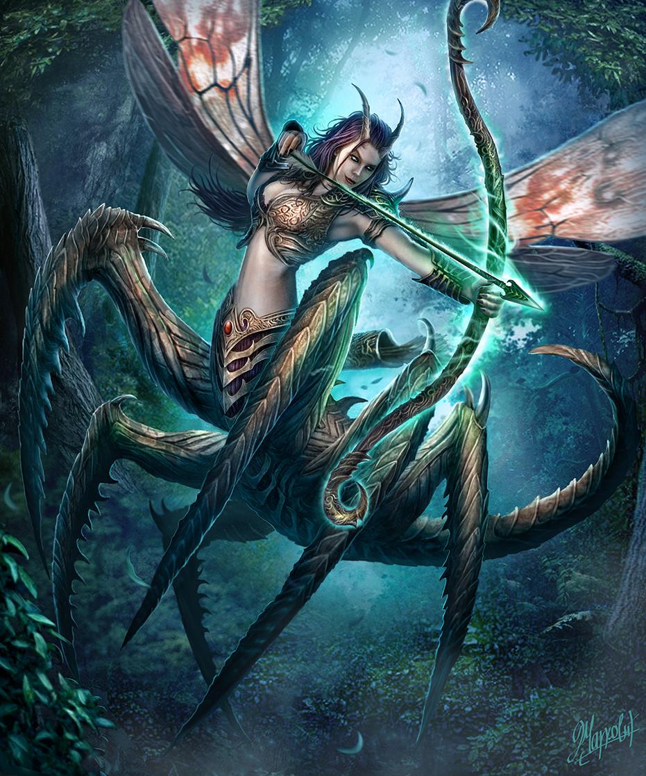 Galeria de Arte: Ficção & Fantasia 1 - Página 5 Insect_archer_by_dusanmarkovic-d7dmesg
