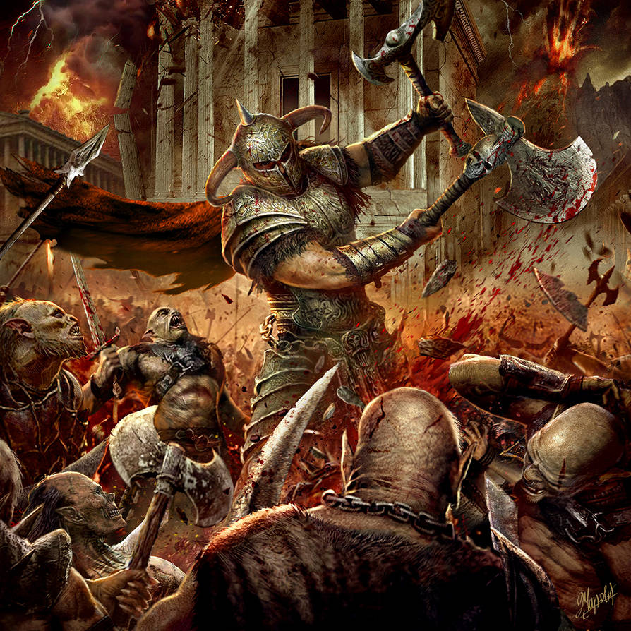 Rage of the warrior by DusanMarkovic