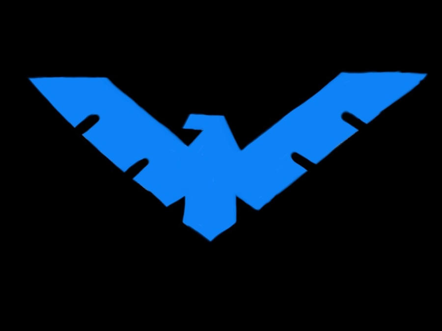 Nightwing logo by vampgirl486 on deviantART