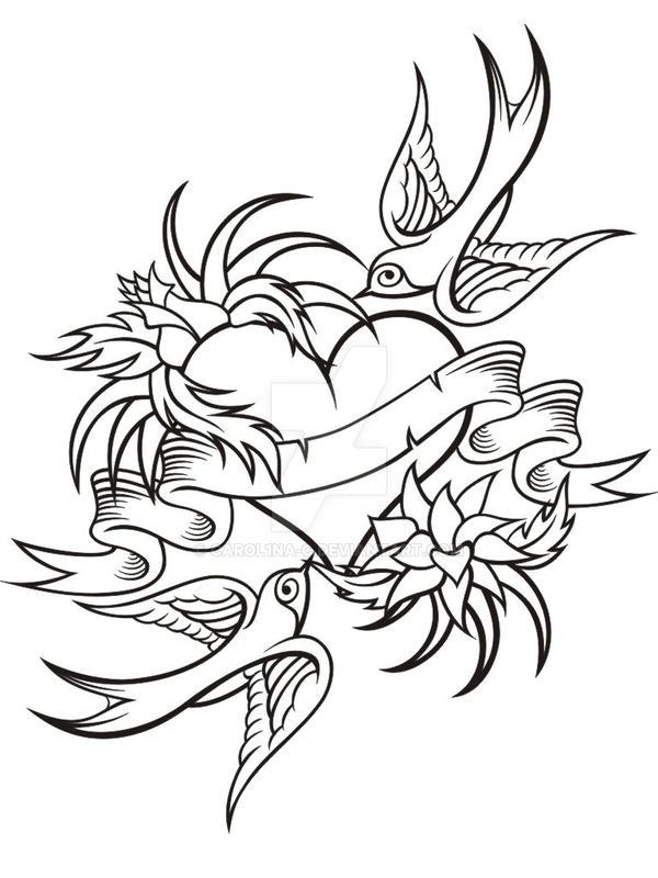 old school tattoo art v. 1 by carol1na-c on DeviantArt