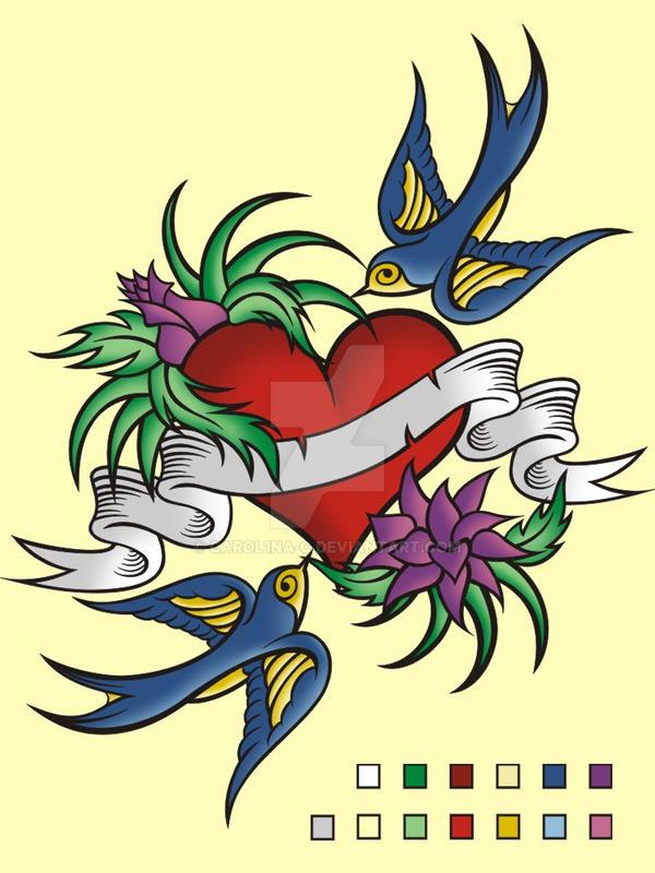 old school tattoo art v. 2 by carol1na-c on DeviantArt