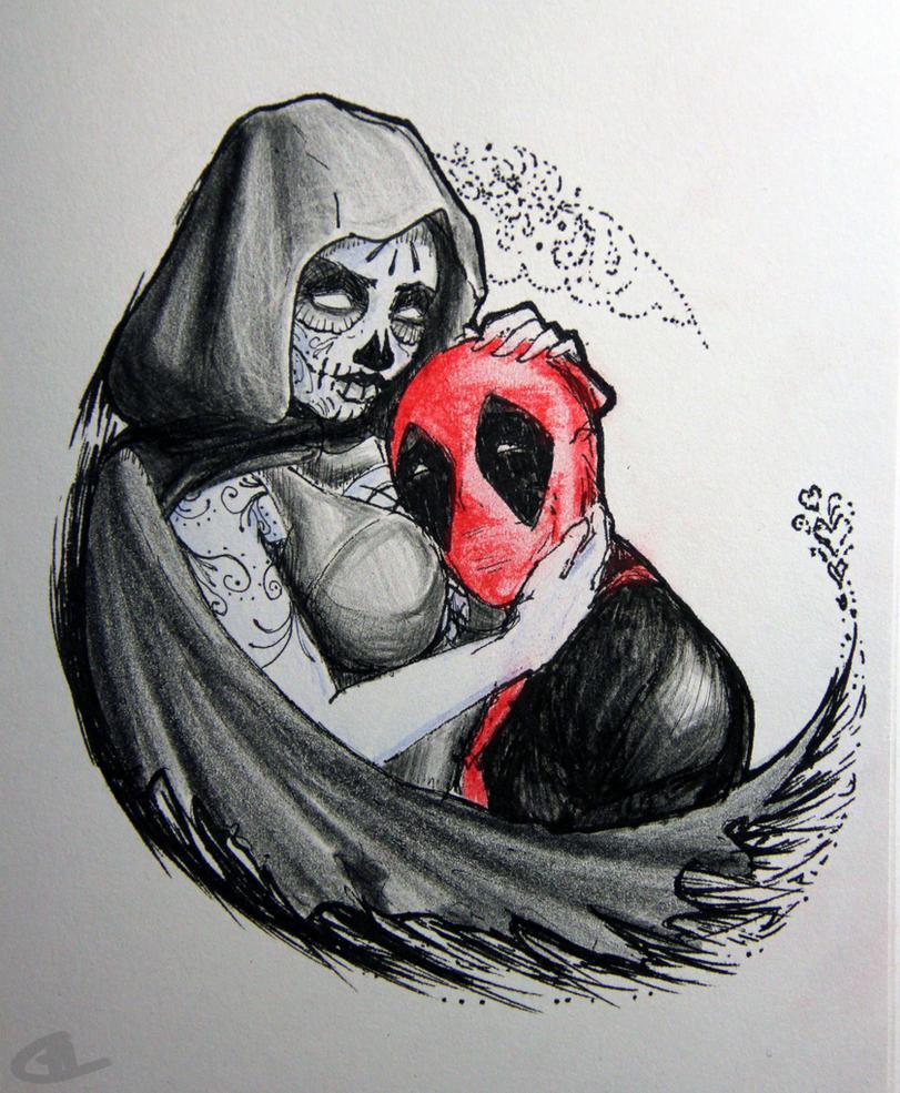 Deadpool And Lady Death Deadpool's Valentine b...