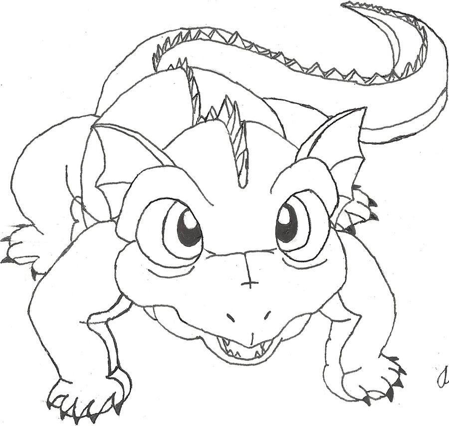 Random Cute Dragon Ball Lizard by Lucinda-AzulCute Lizard Drawing