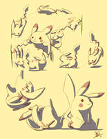 Pikachu Motion Study by Lanmana