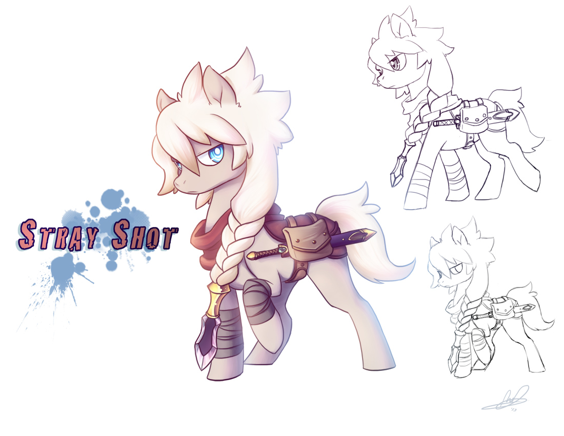 Stray Shot - Pony OC by Lanmana