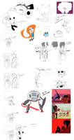 Walking City Doodles
