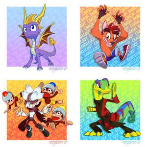 Playstation Mascots