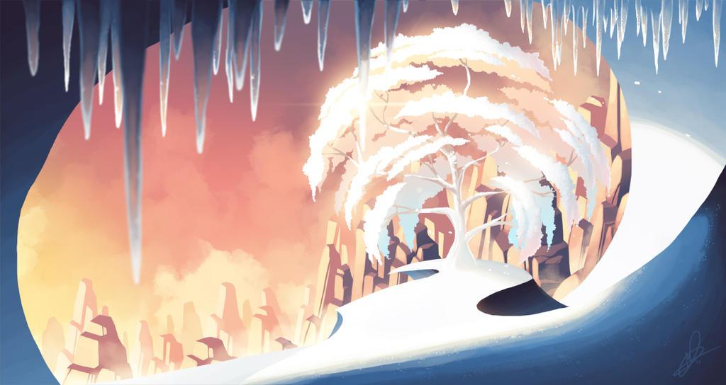Snow Tree by Lanmana