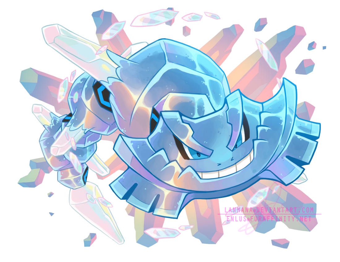 Crystal Mega Steelix by Lanmana