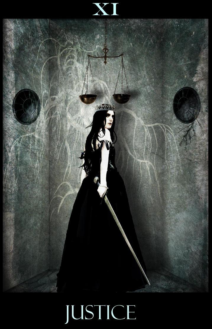 Mystic Tarot- XI Justice By Neko-no-Nagareboshi On DeviantArt