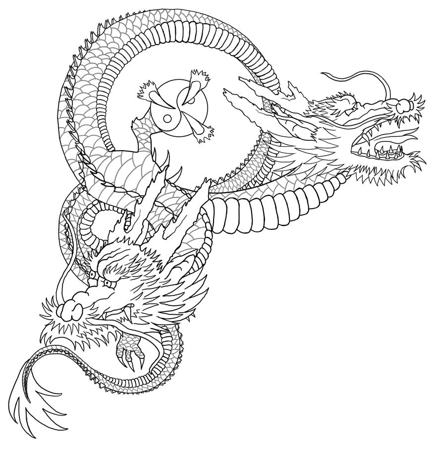 dragon outline wip by almwitch - Dragon Outline