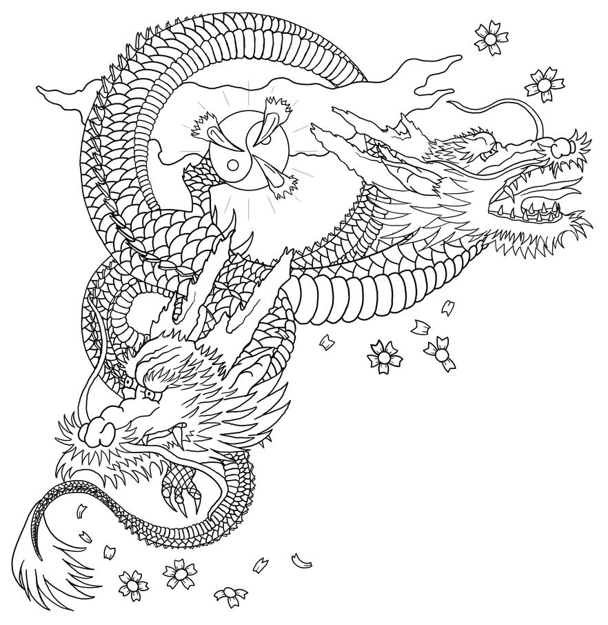 dragon outline wip 2 by almwitch - Dragon Outline