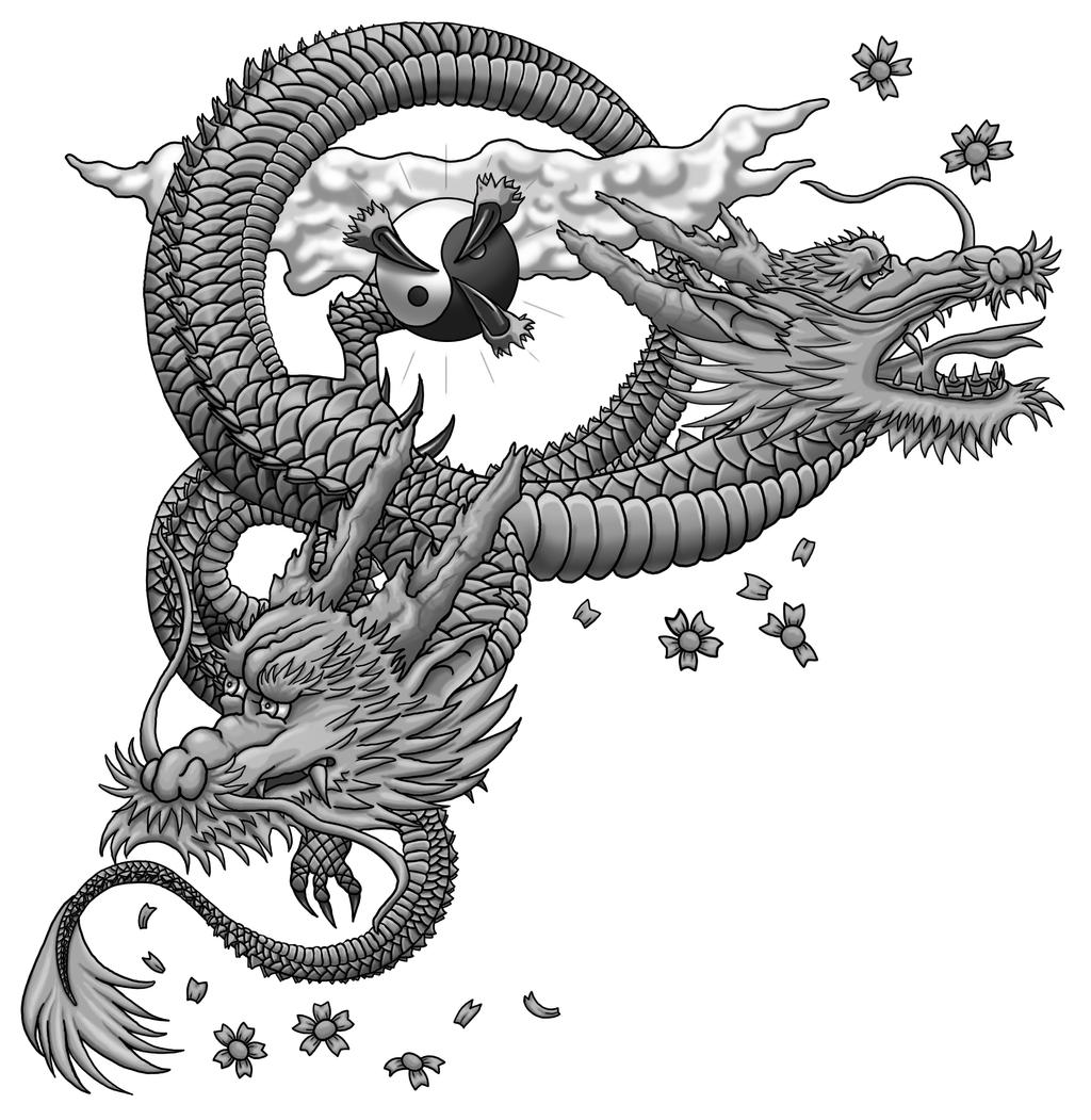 Japanese Dragon WIP Shaded By Almwitch On DeviantArt
