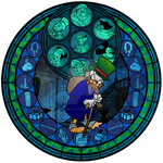 Ebenezer Scrooge Stained Glass