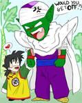 Chibi Piccolo and Gohan