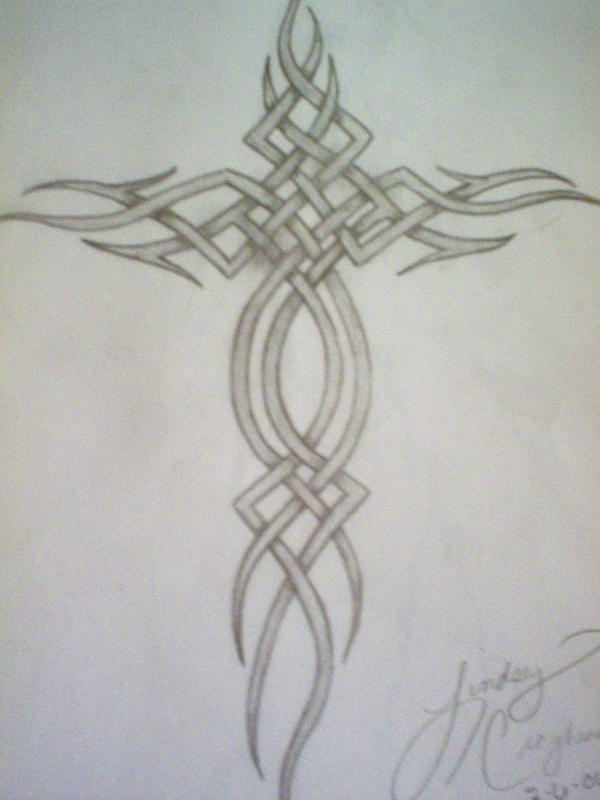 Celtic Cross Tattoo by LadyRavenhawk