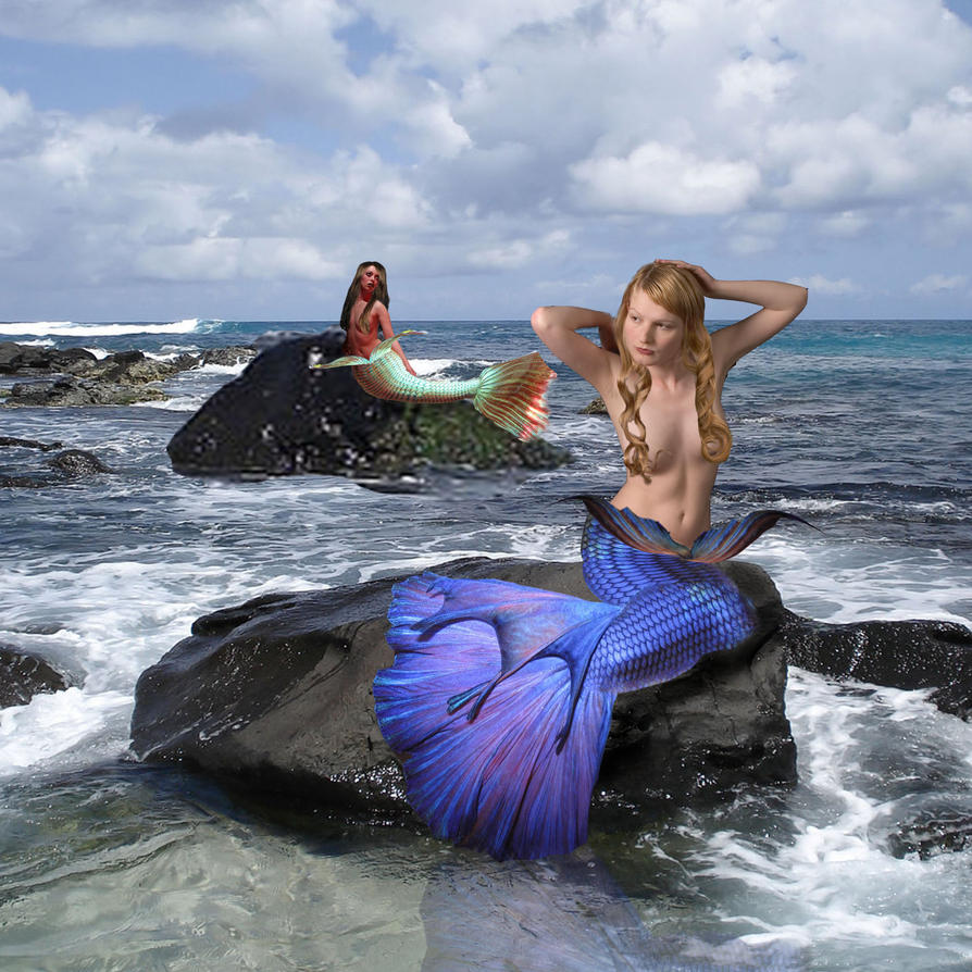 Mermaids by LadyRavenhawk
