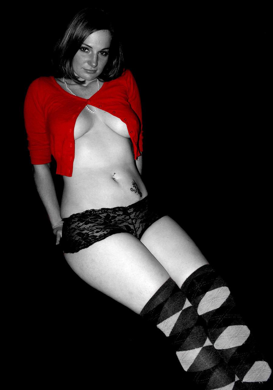 Little Red Sweater by LadyRavenhawk