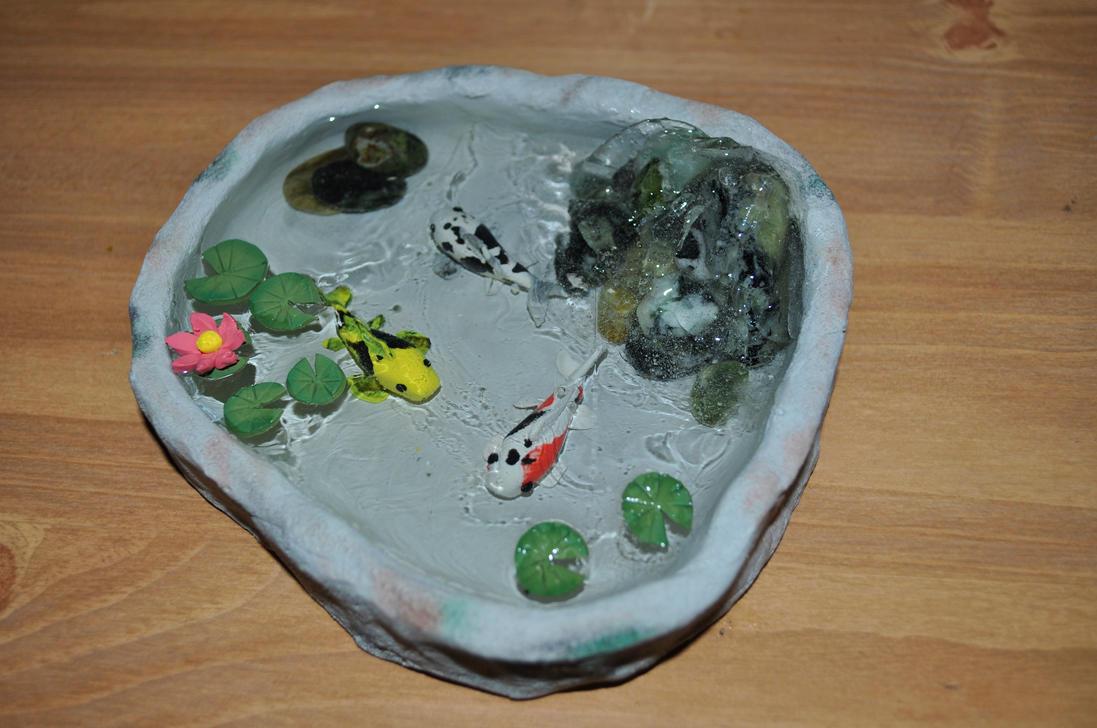 Koi Pond by LadyRavenhawk