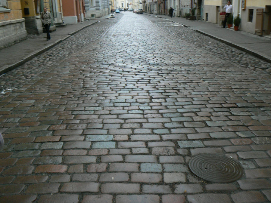 Stock - Cobblestone Road by triinustock