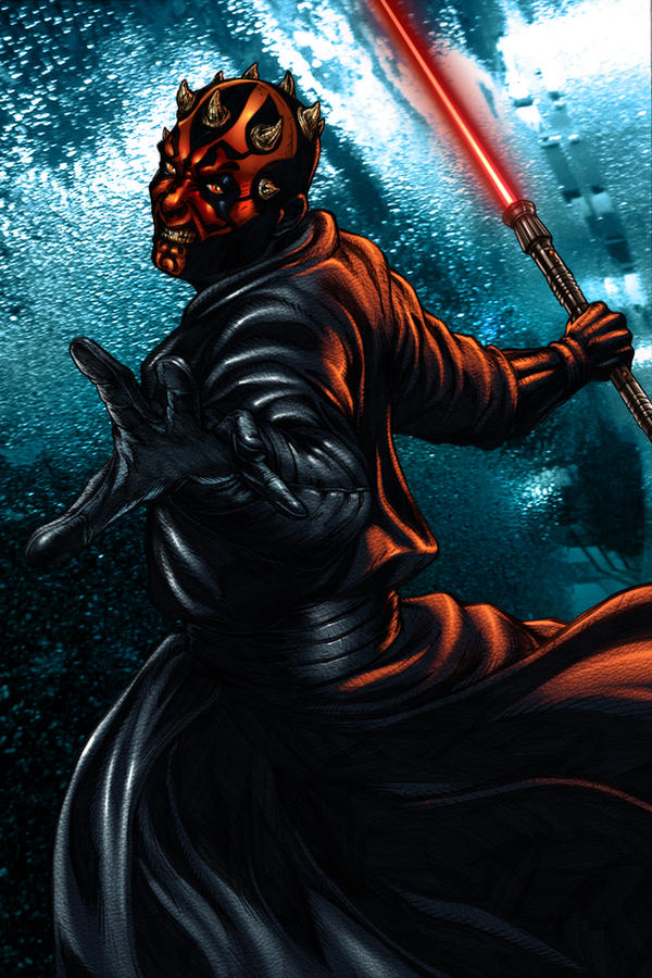 darth maul - colored version by liteboxxx