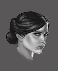 eva green (digital coloring) by liteboxxx