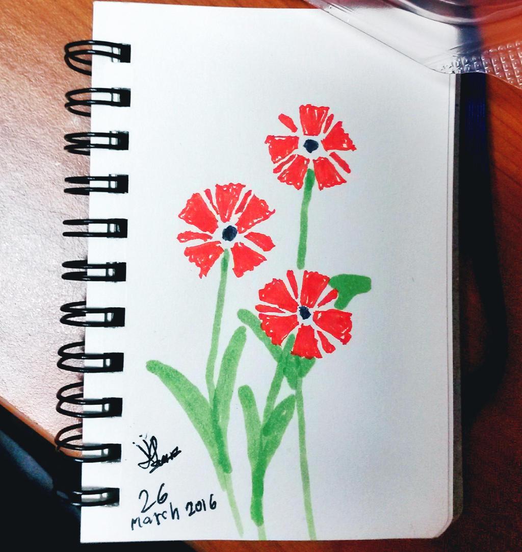 Red Flowers by Kara LaylaShadows on DeviantArt