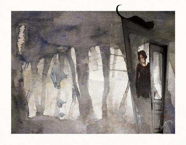 Girl- disappearing by Morrigganne