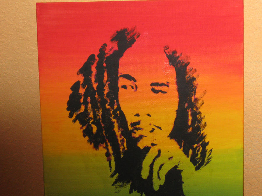 Bob marley painting by kamin1313 on deviantart for Bob marley mural