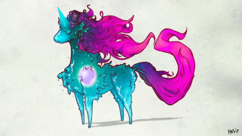 Bestiary:5 - Amoeba Unicorn by happip on DeviantArt Unicorn Background