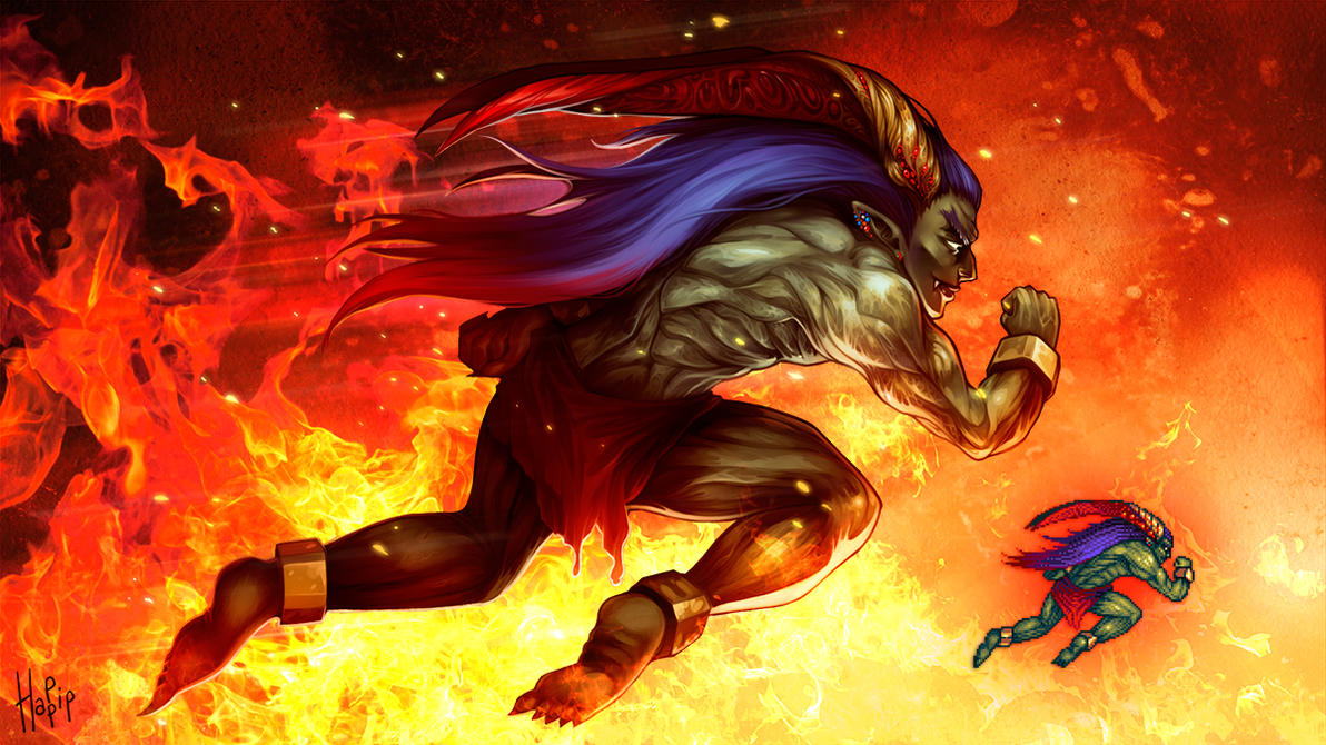 Final Fantasy Ifrit Wallpaper Final Fantasy Ifrit by...