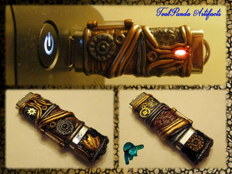 Steampunk USB drive - Horseshoe crab by TealpandaArtifacts