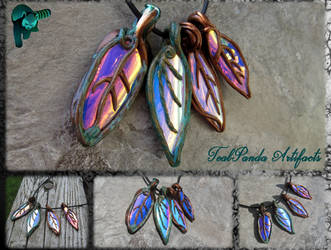 Fallen Leaves - Colorchange Pendants by TealpandaArtifacts