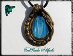 Polymer Clay Blue Agate And Gold