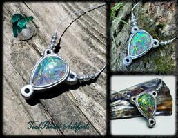 Kickapoo State Recreation Area silver necklace