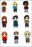 Doctor Who Chibified :D