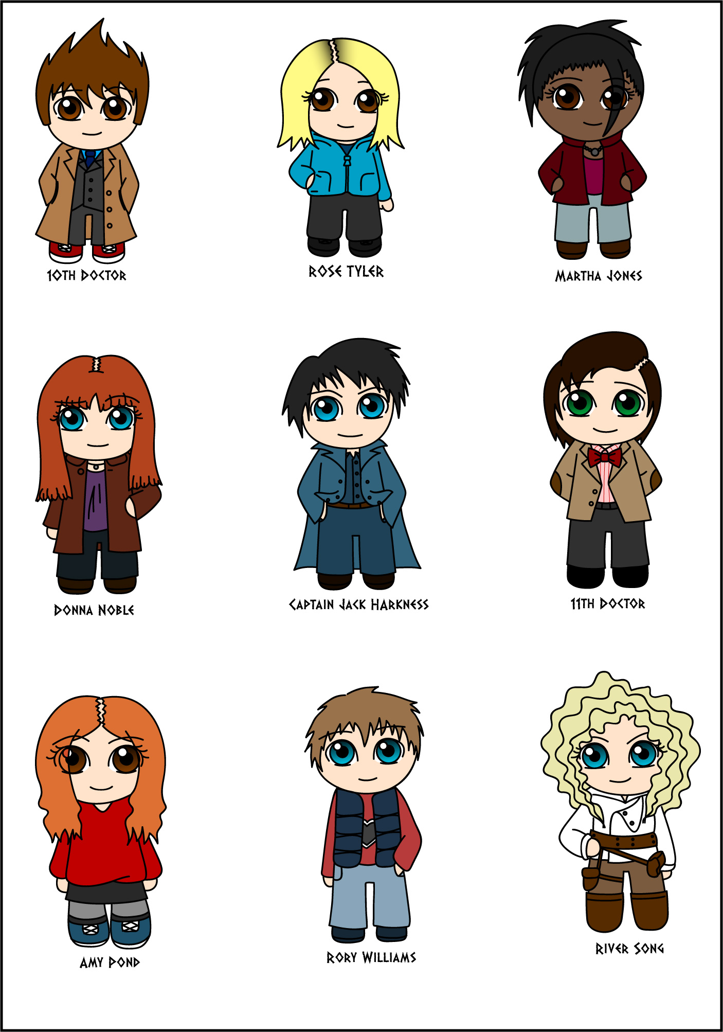 doctor who chibified d by trisidael on deviantart
